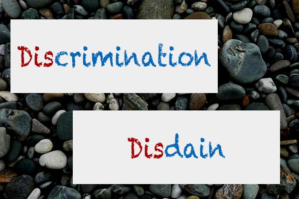 差別と軽蔑。その違いは、とても大きなものであり、まったく違うものだ